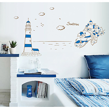 adesivi murali stickers murali, adesivi murali in pvc blu faro del 3011473 2016 a $10.99