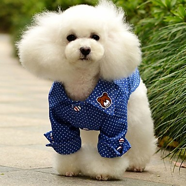 Buy Dog Shirt / T-Shirt Clothes/Clothing Blue Summer Jeans Polka Dots Wedding Cosplay