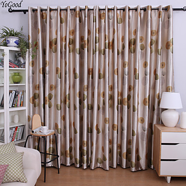 (One Panel) Blackout Country Vivid Dandelion Curtain