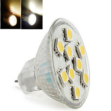 Buy MR11 2 W 9LED X SMD 5050 300 LM 2800-3500/6000-6500 K Warm White/Cool White Globe Bulbs DC 12 V
