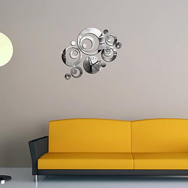 miroirs stickers muraux stickers muraux horloge miroir. Black Bedroom Furniture Sets. Home Design Ideas