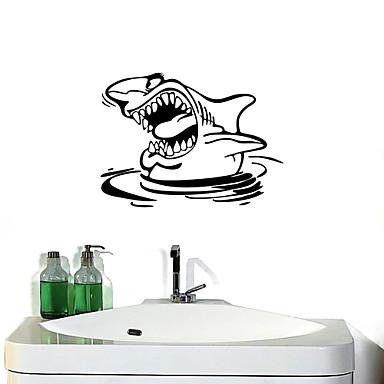 Adesivi murali stickers murali squali autoadesivi della for Adesivi murali per bagno
