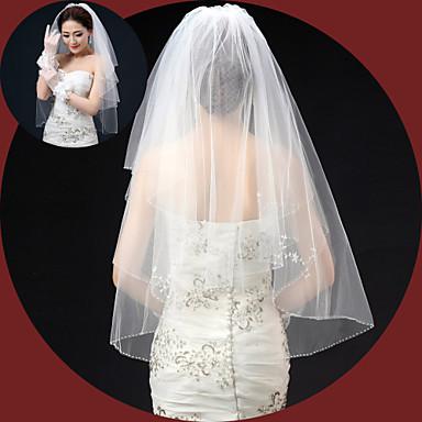 Buy Wedding Veil Two-tier Elbow Veils Lace Applique Edge/Pencil Edge