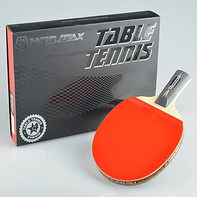 Winmax 1 pcs 4 star long handle table tennis with a color for Table tennis 99