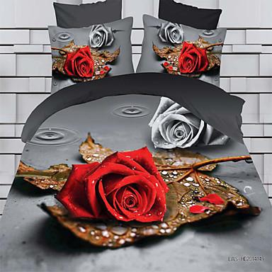 Buy 3D Pattern Design Printed Bedding Sets Comforter Queen Size Duvet Cover Bed Sheet