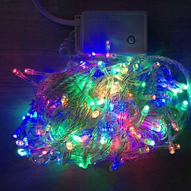 Led String Lights Long : 4W 10 Meter Long 100pcs LED String Light with AC110-220V Input PVC Transparent, Red/Green/Blue ...