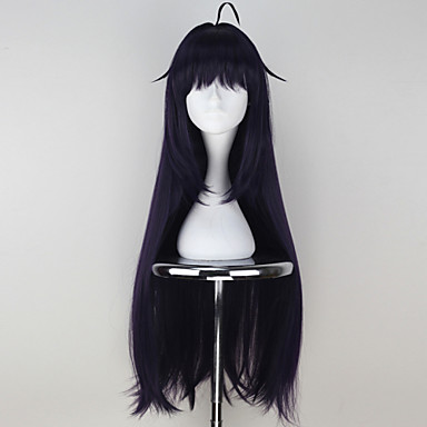 Sword Art Online Konno Yuuki Synthetic Long Straight Purple Color Girl's Anime Cosplay Wig