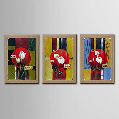 Peinture l 39 huile abstraite d coration fleur peinte la for Peinture lin naturel