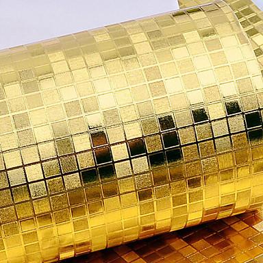 Buy Contemporary Gold Foil Wallpaper Art Deco 0.53m*10m Wall Covering PVC/Vinyl