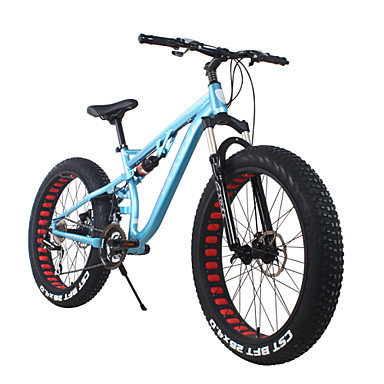 Mountain Bike Cycling 24 Speed 26 Inch/700CC 40mm Men's SHIMANO 65-8 Double Disc Brake Springer Fork Rear Suspension Hard-tail Frame