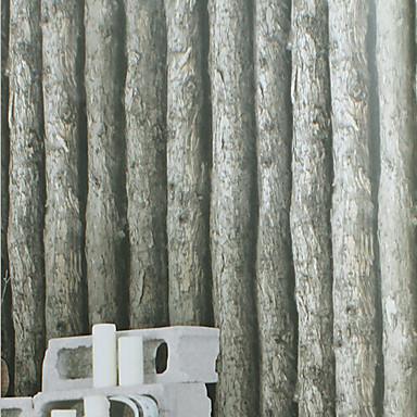 Nieuwe regenboog klassieke behang art deco houtnerf behang wandbekleding pvc vinyl kunst aan - Grijze muur deco ...