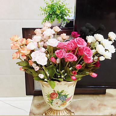 de haute qualit fleur artificielle de couleur rose vif fleurs de soie pour le mariage et. Black Bedroom Furniture Sets. Home Design Ideas