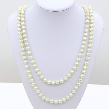 Aime Women's The Newest Fashion Casual Gold Plated Artificial Pearls Necklace