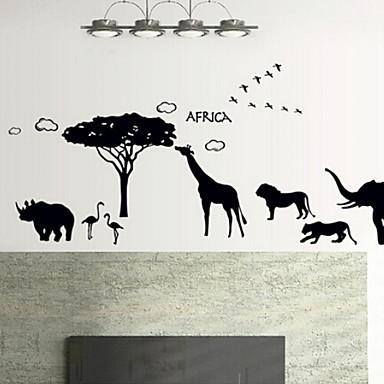 Arte Siluetas De Animales Sal N Dormitorio Pegatinas De