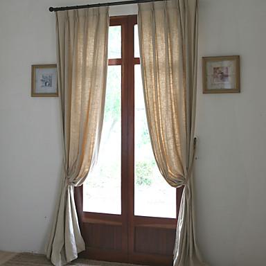 To paneler lin bomull solid panel soverom gardiner gardiner ...