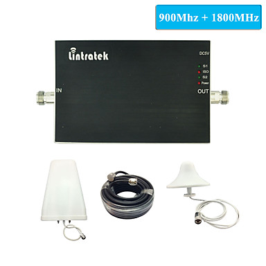 Buy GSM Booster 900 1800 Amplifier DCS mhz Lintratek Dual Band Signal Full Kits