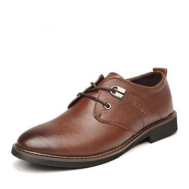 chaussures hommes ext rieure bureau travail d contract noir marron cuir richelieu de. Black Bedroom Furniture Sets. Home Design Ideas