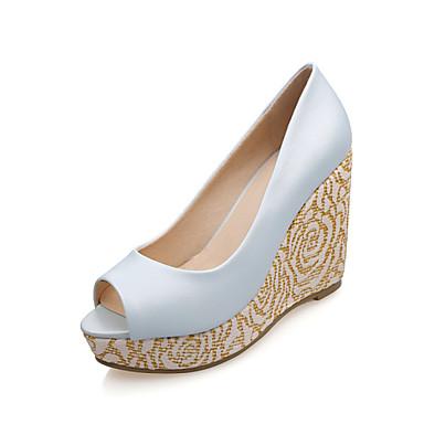 chaussures femme d contract bleu blanc talon compens bout ouvert sandales. Black Bedroom Furniture Sets. Home Design Ideas