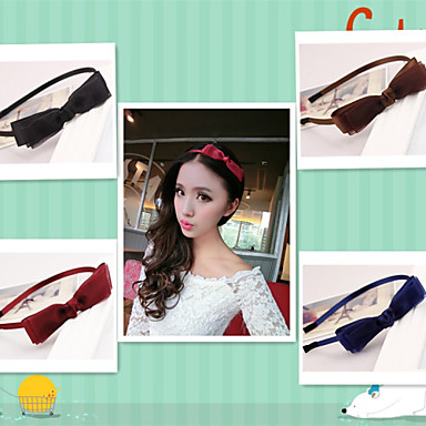 New Han Edition Multilayer Bow Net Yarn With Fine Hair Hoop Card Color Option