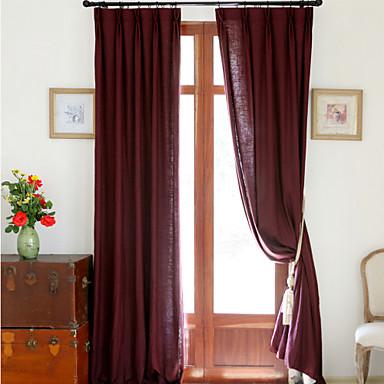 To paneler mote lin bomull solid panel soverom gardiner gardiner ...