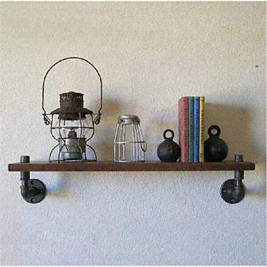 промышленные стиле лофт кованого железа настенные полки ванной полки старинный деревянные стены труб стойку Z19