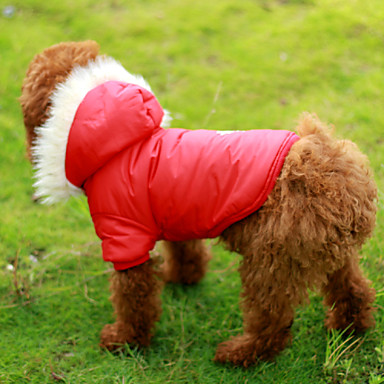 Buy Dog Coat Red / Brown Clothes Winter Snowflake
