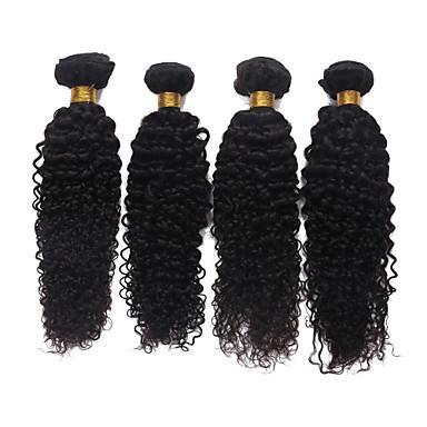 Buy 7A Unprocessed Brazilian Virgin Hair Kinky Curly 100% Human Bundles Weave