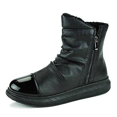 Hombre tac n plano confort botas de equitaci n botas a la for Zapatos de trabajo blancos