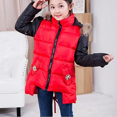 veste manteau fille de hiver m lange de coton rouge jaune de 4436826 2016. Black Bedroom Furniture Sets. Home Design Ideas