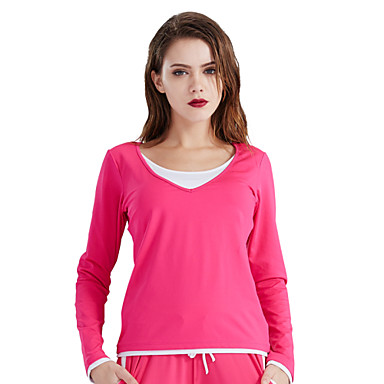 Running tops women 39 s long sleeve breathable high for Lightweight breathable long sleeve shirts