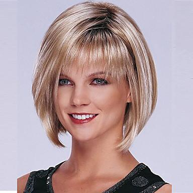 Buy Women's Fashion Short Hair Wig 1B/Blonde Mix Color Hot Sale.
