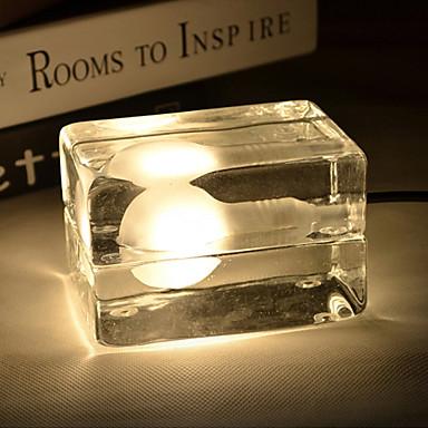 Buy G9*1 12*8*7CM 3-5㎡220V Button Switch Ice Creative Personality Desk Lamp Glass Decorative Fashion LED Light