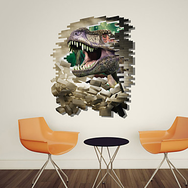 3d sticker wall dinosaur stickers for dining room kid room for 3d dining room wall art