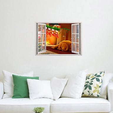 Animali natale romanticismo vacanze adesivi murali for Adesivi parete 3d