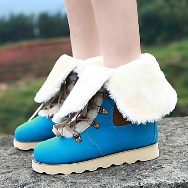 Zapatos de mujer tac n plano botas de nieve punta - Botas de trabajo ...