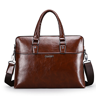 Men Other Leather Type Formal / Office & Career Tote Brown / Black