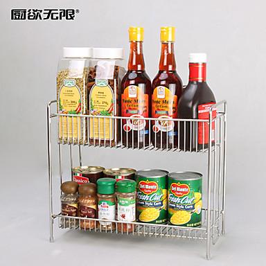 Weiyuwuxian® multifunktions 304 rustfrit stål køkken dobbelt lag ...