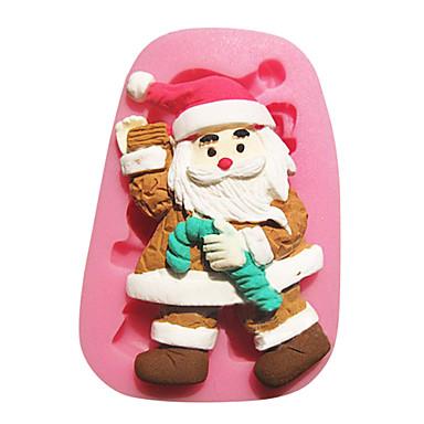 Buy Smile Santa Shape 3D Silicone Fondant Cake Decorating Tools Christmas Baking Mould SM-021