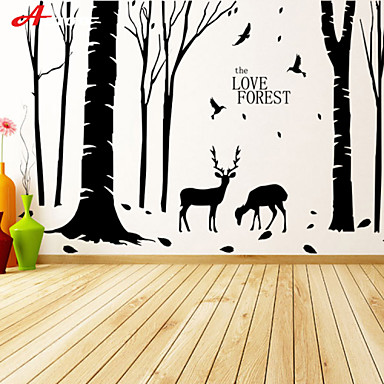 Awoo New Design Pattern Love Forest Wall Stickers Home