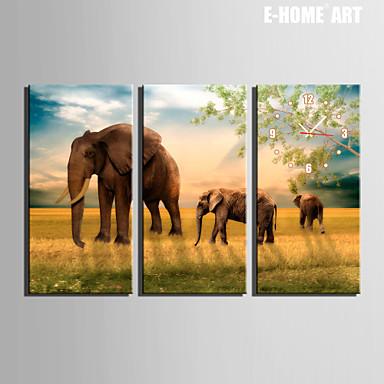 Buy E-HOME® Walking Elephant Clock Canvas