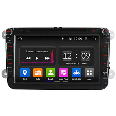Buy 8 Inch Quad Core In-Dash Car DVD Player 2 Din Volkswagen Android 4.4 VW Golf Polo Jetta Touran GPS Radio