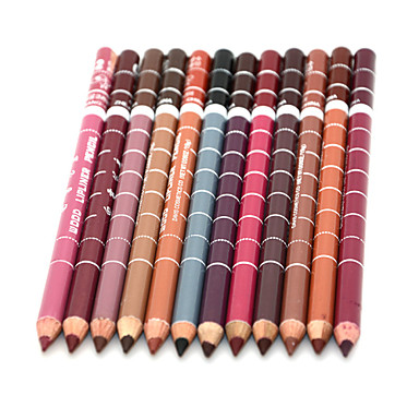 Women's Professional Lipliner Waterproof Lip Liner Pencil 15cm 12 Colors Per Set