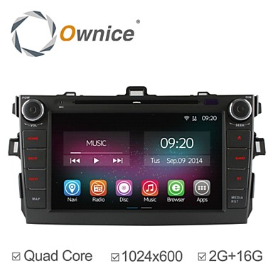 Buy 8 inch HD 1024*600 In-Dash Car DVD Player Toyota Corolla 2006-2011 Quad Core 2G RAM Android 4.4.2 GPS Navigation