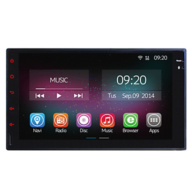 Buy 7 Inch In-Dash 800*480 Full Touch Panel Car Multimedia Player Universal 2 Din Quad Core CPU Android 4.4.2 GPS