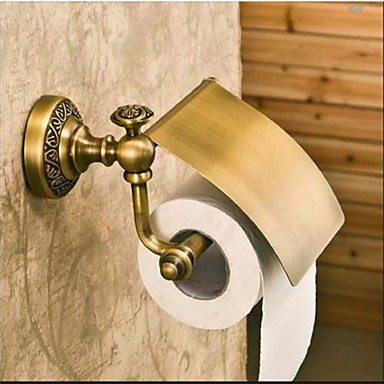 Antique Style Brass Material Wall Mounted Toilet Paper