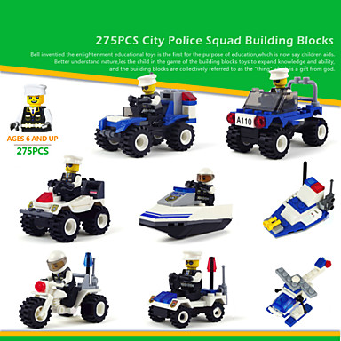 Buy 8piece/lot Building Blocks Toys City Protection Truck Models Plastic Playmobile Kids Educational Series