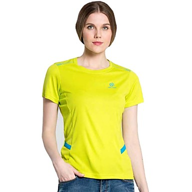 Buy Outdoor Cilmbing Camping Hiking Polyester Quick Drying Short Sleeve Women T Shirt Sportswear