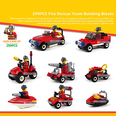 Buy 8piece/lot Fire Rescue Models Building Toy Plastic Blocks Compatible Bricks Set Children Enlighten Educational