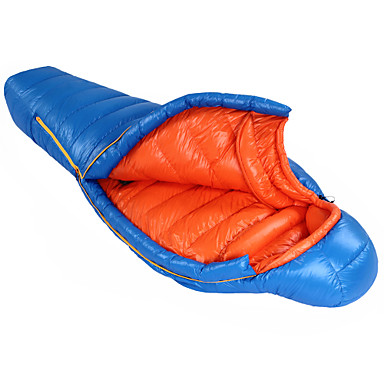 Buy HIGHROCK Blue/Red Adult Outdoor Winter Camping Ultralight 0C -25C 1200g 90/10 Duck Sleeping Bag
