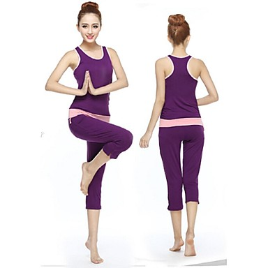yoga ensemble de v tements respirable douceur extensible v tements de sport femme yoga pilates. Black Bedroom Furniture Sets. Home Design Ideas